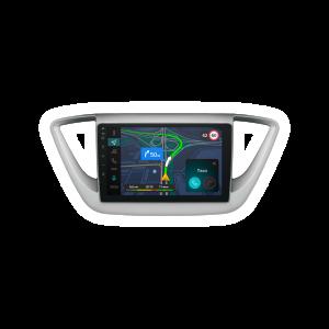 Штатная магнитола Phantom DVM-HD01  на платформе Яндекс Авто для автомобилей Hyundai Solaris 2017+