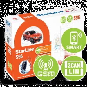 Автосигнализация StarLine S96 BT V2 2CAN+4LIN 2SIM GSM с автоматическим запуском двигателя