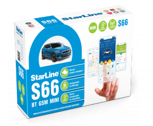 Автосигнализация StarLine S66 BT 2CAN+2LIN GSM mini